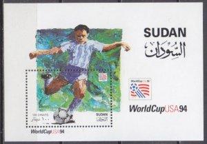 1995 Sudan 491/B4 1994 World championship on football of USA 7,50 €