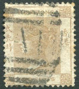 HONG KONG-1863-71 2c Brown Used in Amoy Sg Z8  V21565