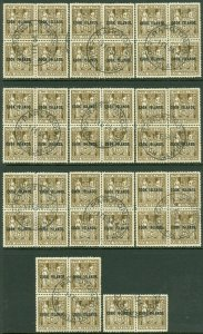 EDW1949SELL : COOK ISLANDS 1951 SG #131a Great Holding of 10 Blks of 4 & 1 pair
