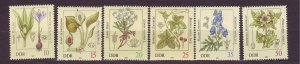 J23249 JL stamps 1982 DDR germany set mnh #2254-9 flowers
