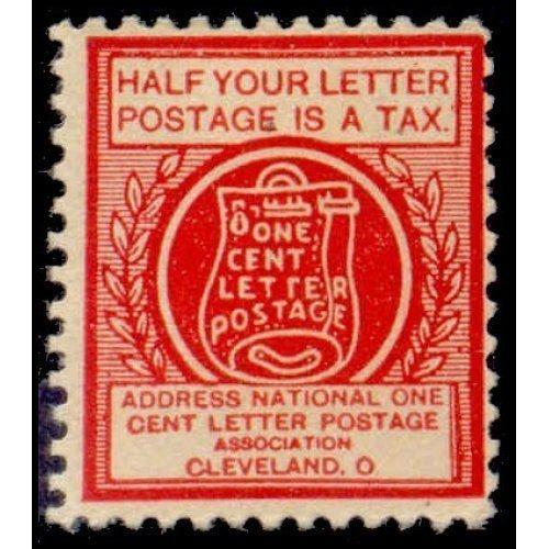 US - National One Cent Letter Postage Association Stamp - Type VIb (#5)