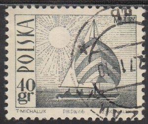 Poland, Sc 1441 (1), Used, 1966, Amethyst Yacht