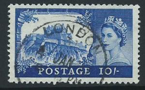 Great Britain QE II  SG 597a FU  wmk 179 1 short perf