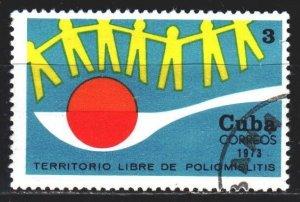 Cuba. 1973. 1863. Polio control, medicine. USED.