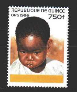Guinea. 1996. 1587 from the series. Children. MNH.