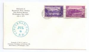 1970 Ohio Railway Museum Dedication Railroad Post Office #3
