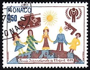 Monaco # 1176 used ~ 1.50fr Children, Peace