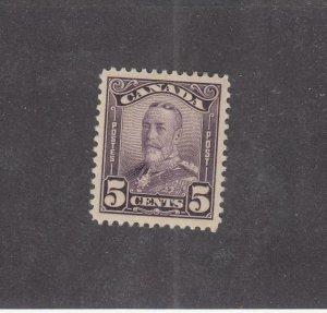 CANADA (MK4287) # 153  VF-MLH  5cts KING GEORGE V SCROLL / DEEP VIO CAT VAL $25