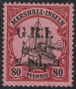 GRI MARSHALL ISLANDS 1914 YACHT 8D ON 80PF 5MM SPACING