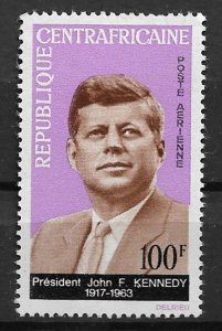 1964 Central Africa #C24 Kennedy Memorial MNH