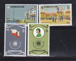 Gibraltar 443-446 Set MNH Commonwealth Day (B)