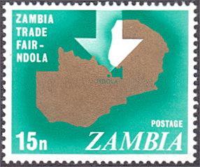 Zambia # 51 mnh ~ 15n Map of Zambia, Arrow