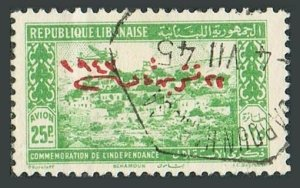 Lebanon 169,used.Michel 282. Return to office of the president,ministers,1943.