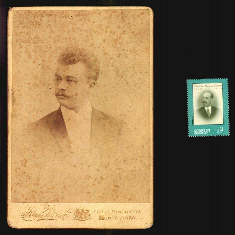 Founder of UPAE Garcia y Santos Original cabinet portrait photo c1880 rarity ODD