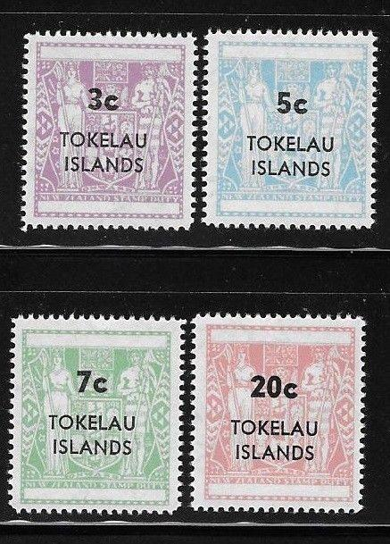 Tokelau 1967 Postal Fiscal NZ surcharged Sc 12-15 MNH A1130