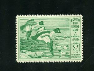 UNITED STATES DUCK STAMP SCOTT#RW16  MINT HINGED--SCOTT VALUE $70.00