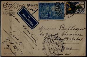 Brazil Zeppelin card 13.12.34