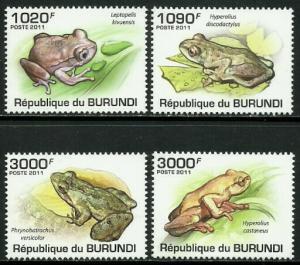 Burundi MNH 902-5 Frogs 2011 SCV 13.50