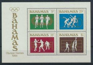 [I810] Bahamas 1984 Olympics good sheet very fine MNH