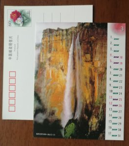 Grand waterfall,CN99 shanghai post world famous scenery with calendar advert PSC