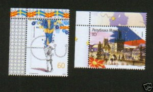 MACEDONIA-MNH-SET-MACEDONIA IN EU-FLAG-2009..