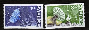 J23091 JLstamps 1984 sweden set mnh #1524-5 space