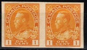 Canada #136 F-VF Unused Pair  CV $87.50 (X6123)