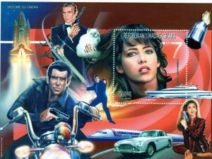 Madagascar 1999 James Bond 007/Space/Cinema/Cars/Motorcycle S/S (1) MNH
