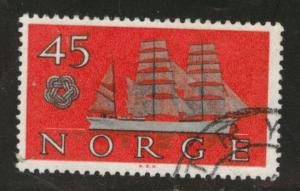 Norway Scott 384 used 1960 ship stamp