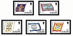 St Helena 446-50 MNH 1986 Society Banners