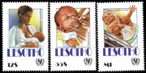 Lesotho - 1990 UNICEF Child Survival Campaign Set SG 981-983