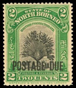 North Borneo Scott J32 Gibbons D52a Mint Stamp
