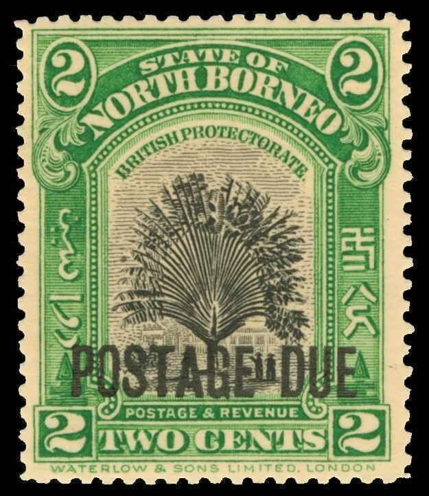North Borneo Scott J32 Gibbons D52a Mint Stamp
