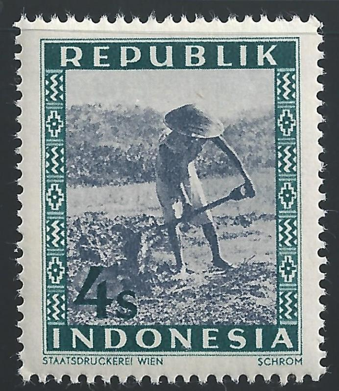 Indonesia #35 4s Farmer Working Field with Pitchfork