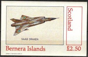 {B148} Bernera Scotland Aviation Airplanes (2) S/S 2,50£ MNH Cinderella !!