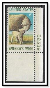 US #1423 Wool Industry Plate # Single MNH