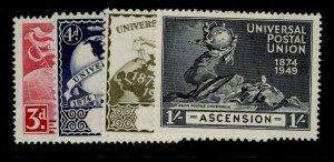ASCENSION SG52-55, complete set, NH MINT. UPU