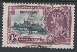 GIBRALTAR 1935 KGV SILVER JUBILEE 1/- USED