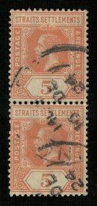 Straits Settlements, 5c (3729-T)