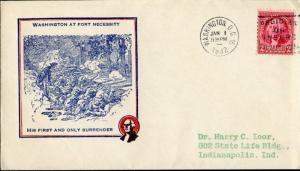 #707-20b WASHINGTON AT FOR NECESSITY FDC BY IOOR CACHET BN937