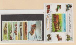 Liberia Scott #647-652//C199 Stamp - Used Set