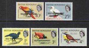 British Honduras 182-186 Birds MNH VF