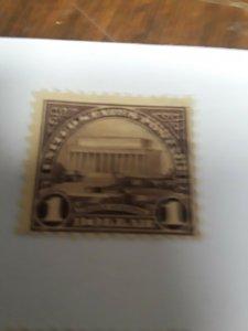 1923 USA $1 Mint No Gum Value $65