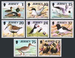 Jersey 778-785,MNH.Michel 765-772. Birds 1997.Merganser,Tern,Gull,Dunlin,Puffin,
