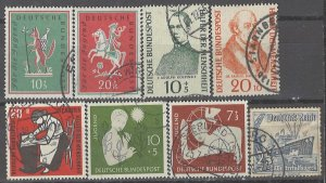 COLLECTION LOT # 2844 GERMANY 8 SEMI POSTAL STAMPS 1937+ CV+$23