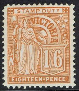 VICTORIA 1886 FIGURE 1/6 WMK V/CROWN SG W33