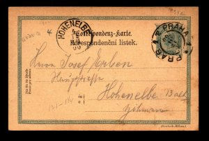 Austria 1904 5KR Postal Card Used / Prague CDS - L11342