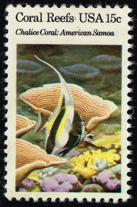 US #1829 Chalice Coral & Moorish Idol; MNH (0.30)