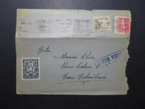 Spain 1938 Military Censor Cover / Local Issue / Top Fold - Z11831