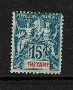 French Guiana SC# 39, Mint Hinged, Hinge Remnant - S9872